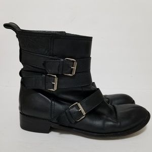 Madewell size 9.5 leather boots with buckles